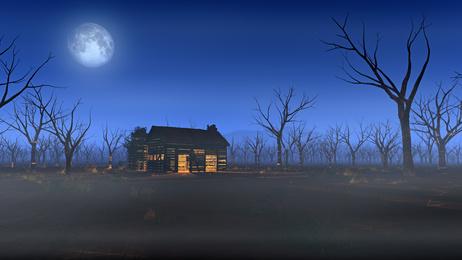 荒野の一軒家